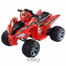 Kids Ride On ATV Quad 4 Wheeler Electric Toy Car Led Lights 12V Battery Power