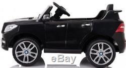 Kids Ride On Car 12V Battery Power Licensed Mercedes ML350 RC Lights MP3 Black