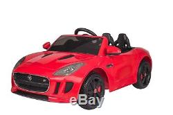 Kids Ride On Car 12V RC Electric Wheels with Remote & Radio Jaguar F-TYPE Red