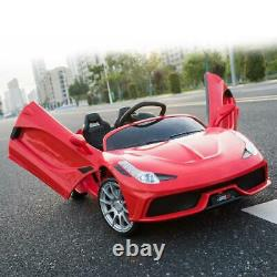 Kids Ride On Car 12V Rechargeable Battery Powered with MP3 RC Remote Control Red