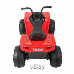 Kids Ride On Car 6V Electric Battery Power Wheels MP3 LED Light Red 2 Speed