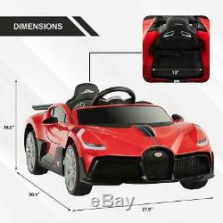 Kids Ride On Car Bugatti Divo 12V Motorized Vehicles With RC Horn Safety Lock