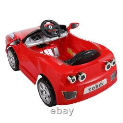Kids Ride On Car Electric 6V Battery Power Gift Toy LED MP3 With Remote Control