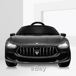 Kids Ride On Car Maserati License 12V Rechargeable With MP3 / Remote Black