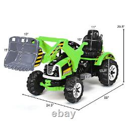 Kids Ride On Excavator Truck 12V Battery Powered WithFront Loader Digger Home