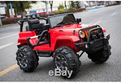Kids Ride On Jeep 12V Power with Big Wheels and Remote Control, Radio/MP3, Red