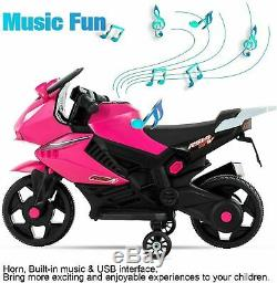 Kids Ride On Motorcycle 6V Electric Battery Powered Motorbike Training Wheels