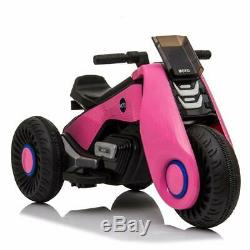 Kids Ride On Motorcycle Electric 3 Wheels Double Drive Battery Powered Motorbike
