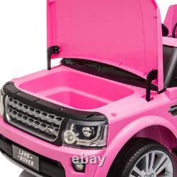 Kids Ride On Truck -12V Battery Powered- Electric Car Range Rover LED Light Pink