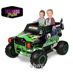 Kids Ride On Truck Car Monster Jam Grave Digger 24V Battery Powered Terrain Toy