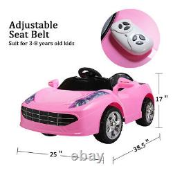 Kids Ride on Car Electric with Music Light Remote Control Pink Toys Gift 6V Pink