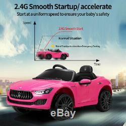 Kids Ride on Cars 12V Children Electric Maserati Ghibli Toys With LED Headlights