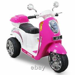 Kids Ride-on Scooter Toy Bike 3-wheel Motorbike 6V Battery Powered Electric Pink