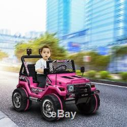 Kids Ride on Truck Car WithRemote Control 12V Battery Powered Electric Car Jeep