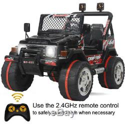 Kids Ride on Truck Car WithRemote Control 12V Battery Powered Electric Jeep Black