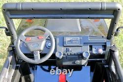 Kids Toy Ride On 24V Battery Car 4WD 2-Seater Land Rover Defender Remote Black