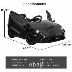 Kidzone Kids 12V Electric Ride On Licensed Lamborghini Roadster Vehicle 8 Colors