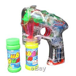 LED Light Up Bubble Gun Battery Operated Bubble Blower Bulk Lot (Pack of 48)