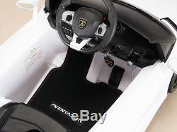 Lamborghini Kids Ride On Power Wheels Car with RC Remote Control White Aventador