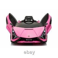Lamborghini Ride On Cars with Remote Control 12V power USB MP4 Touch Screen Pink