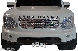 Land Rover Battery Powered Electric Ride On 2-6 years Kids Toy Car Remote White