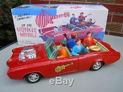 Lg 1967 Japan ASC Tin Friction/Battery Op. Monkee-Mobile GTO in BOX. A+. Works