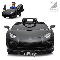 Licensed Lamborghini 12V Electric Kids Ride On Car with Remote Control MP3 -Black