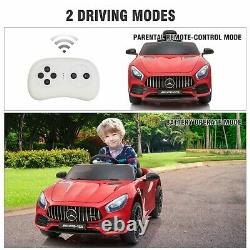 Licensed Mercedes-AMG GT 12V Electric Kids Ride On Car Vehicle withRemote Control
