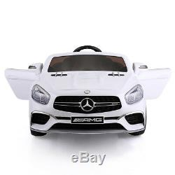 Licensed Mercedes Benz 12V Kids Ride On Car 3Speed with Remote Control MP3 White
