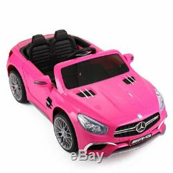 Licensed Mercedes Benz 12V Kids Ride On Car Rechargeable 3 Speed Remote Control