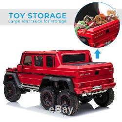 Licensed Mercedes Benz AMG G63 6x6 Ride On Car with 2.4G Remote Contro for Kids