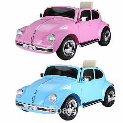 Licensed Volkswagen Beetle Electric Kids Ride-On Car 6V Battery Powered Toy