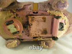 MARX Flintstones Fred on Dino Dinosaur Battery Operated Plush Toy