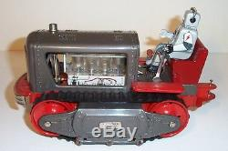 MINT 1950's LINEMAR BATTERY OPERATED ROBOT TRACTOR TIN LITHO SPACE TOY MIB