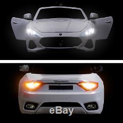 Maserati Gran Cabrio 12V Electric Kids Ride On Toy Car with Remote Control White