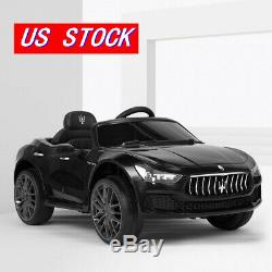 Maserati Kids Ride On Car 12V Rechargeable Toy Vehicle Remote Control MP3 Black