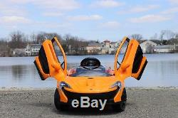 Mclaren P1 Orange 12v-Dual Motor Electric Power Ride On Car with Remote Control