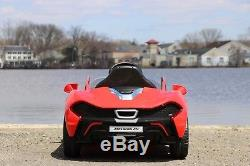 Mclaren P1 Red 12v-Dual Motor Electric Power Ride On Car with Remote Control
