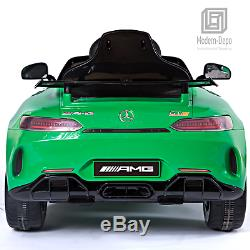 Mercedes Benz AMG GTR 12V Kids Electric Ride On Car with Remote Control Green