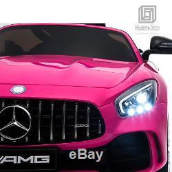 Mercedes Benz AMG GTR 12V Kids Electric Ride On Car with Remote Control Pink