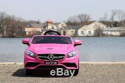 Mercedes Benz S63 12v-Dual Motor Electric Power Ride On Car with Remote Control