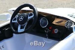 Mercedes Benz SL 12V Kids Electric Ride-On Car with Remote White