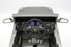 Mercedes G65 AMG 12V Kids Ride-On Car with Parental Remote Gray Metallic