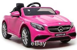 Mercedes Ride On Car Licensed Model S63 Power 12v Wheels Remote Control Pink