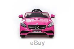 Mercedes Ride On Car Licensed Model S63 Power 12V Wheels Remote Control Pink