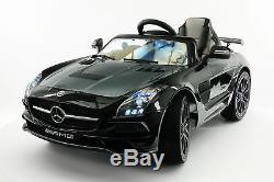 Mercedes SLS AMG Final Edition 12V Kids Ride-On Car R/C Parental Remote Black