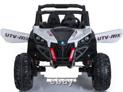 Mini Moto UTV 4x4 12v White (2.4ghz RC) Two Seater Electric Ride On, Toddlers