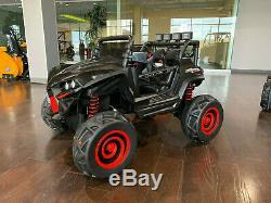 Mini UTV All-Terrain Kids Ride On Car 12v Electric Remote Music LED Black