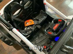 Mini UTV All-Terrain Kids Ride On Car 12v Electric Remote Music LED WHITE