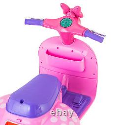 Minnie Mouse Scooter with Doll Sidecar 6-Volt Ride-On Toy Car for Girls Kids Ne